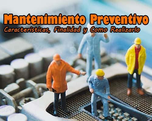 en que consiste el mantenimiento preventivo